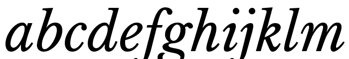 LibreBaskerville-Italic Font LOWERCASE