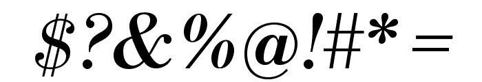 LibreBodoni-Italic Font OTHER CHARS