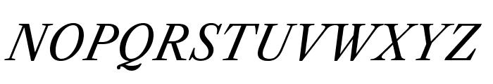 LibreCaslonText-Italic Font UPPERCASE