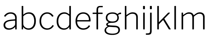 LibreFranklin-ExtraLight Font LOWERCASE