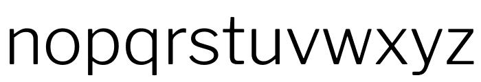 LibreFranklin-Light Font LOWERCASE