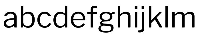 LibreFranklin-Regular Font LOWERCASE