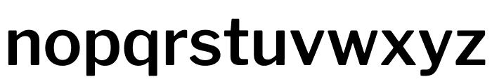 LibreFranklin-SemiBold Font LOWERCASE