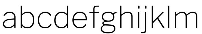 LibreFranklin-Thin Font LOWERCASE
