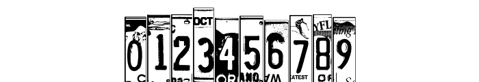 LicensePlates Font OTHER CHARS