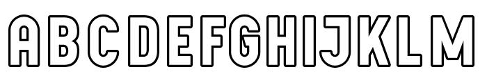 LichtePostBus Font LOWERCASE