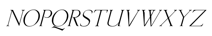 Lichtner Italic Font UPPERCASE