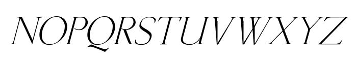 Lichtner Italic Font LOWERCASE