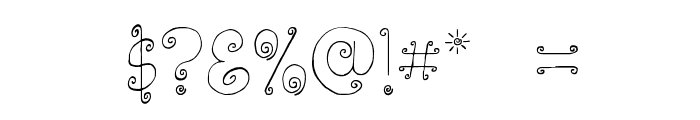 Lickcurl Petite Font OTHER CHARS