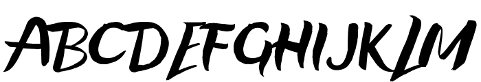 Life Is A Right Time Font UPPERCASE