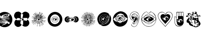 LifeEyecons Font LOWERCASE