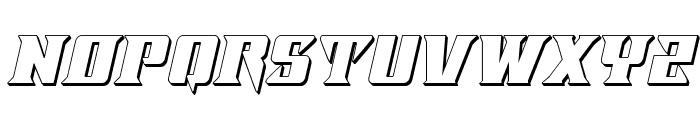 Lifeforce 3D Italic Font UPPERCASE