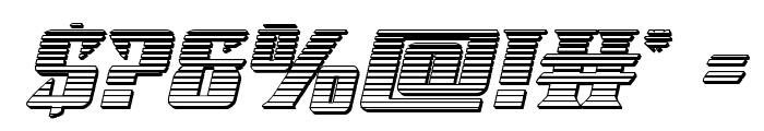Lifeforce Chrome Italic Font OTHER CHARS