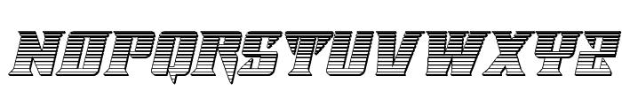 Lifeforce Chrome Italic Font UPPERCASE