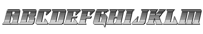 Lifeforce Chrome Italic Font LOWERCASE