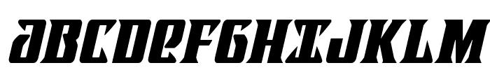 Lifeforce Condensed Italic Font UPPERCASE