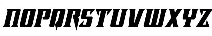 Lifeforce Condensed Italic Font LOWERCASE