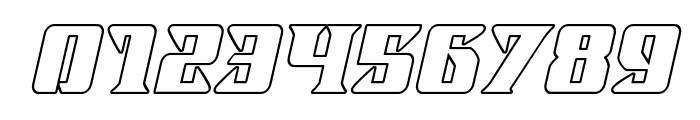 Lifeforce Outline Italic Font OTHER CHARS