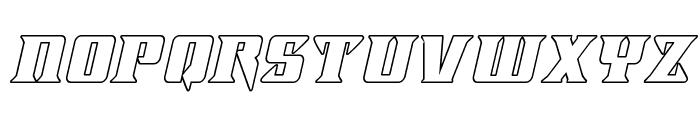 Lifeforce Outline Italic Font LOWERCASE