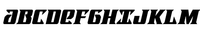 LifeforceItalic Font UPPERCASE
