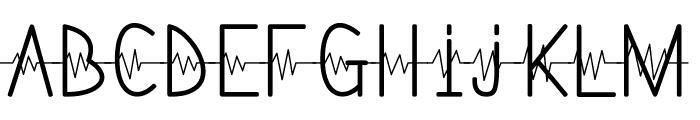 Lifeline Font LOWERCASE