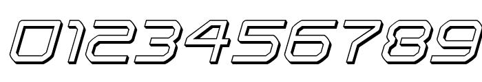 Light Brigade 3D Italic Font OTHER CHARS