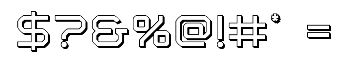Light Brigade 3D Font OTHER CHARS