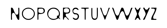 Light From Behind Font LOWERCASE