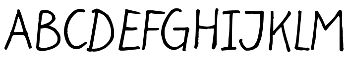 Light at the end Font UPPERCASE