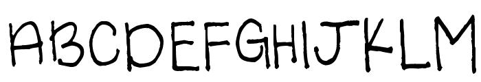 Light of the World Font UPPERCASE