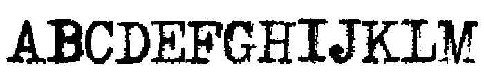 LightFingers Font UPPERCASE