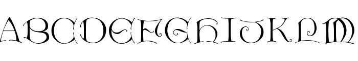LightUnciale Font LOWERCASE