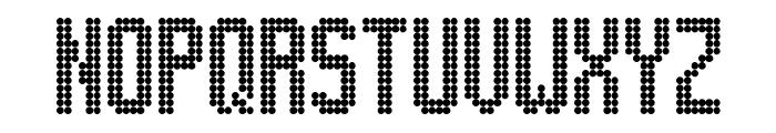 Lightdot 13x6 Regular Font UPPERCASE