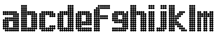 Lightdot 13x9 Regular Font LOWERCASE