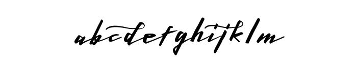 LighteningFreeFont Font LOWERCASE