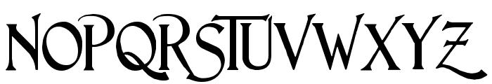 Lightfoot Font UPPERCASE