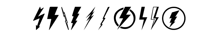 Lightning Bolt Font OTHER CHARS