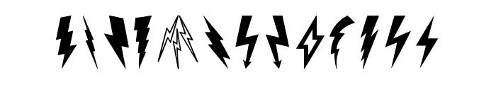 Lightning Bolt Font UPPERCASE