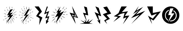 Lightning Bolt Font LOWERCASE