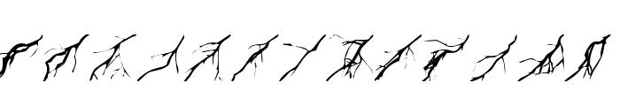 Lightning Bolts Font UPPERCASE