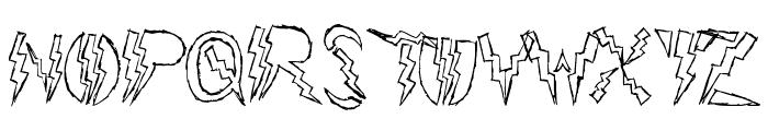 Lightning Strike Font UPPERCASE