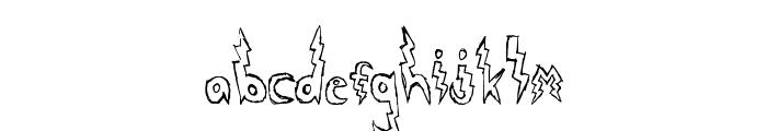 Lightning Strike Font LOWERCASE