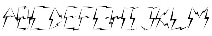 Lightning raid Font UPPERCASE