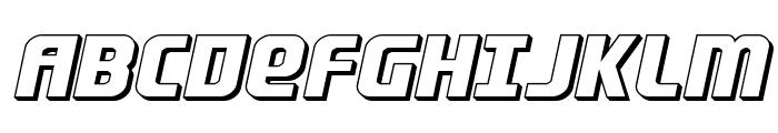 Lightsider 3D Font UPPERCASE