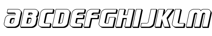Lightsider 3D Font LOWERCASE