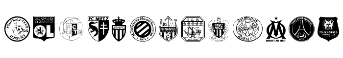 Ligue 1 Font UPPERCASE