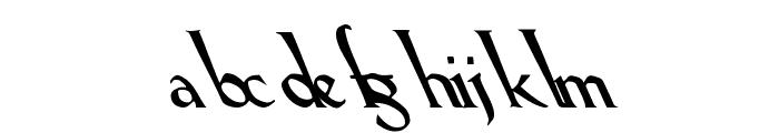 Lil Hvy Leftie Font LOWERCASE