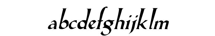 LilHvy Italic Font LOWERCASE