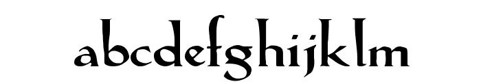 LilHvy Wd Font LOWERCASE