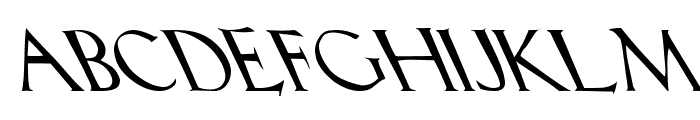 Lilith Heavy Leftie Font UPPERCASE